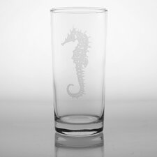 Seahorse 15 Oz Cooler Glass (Set of 4)