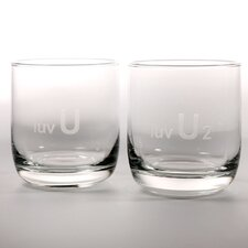 <strong>Rolf Glass</strong> Luv U and Luv U2 10 Oz Room Tumbler (Set of 4)