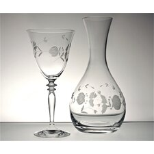 Adam's Rose Tulip and Carafe (Set of 6)