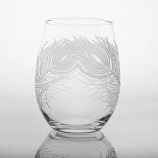 Peacock Wine Tumbler Glass (Set of 4)