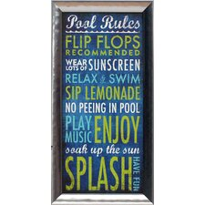 <strong>Artistic Reflections</strong> Pool Rules Wall Art