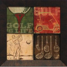 <strong>Artistic Reflections</strong> Golf 4 Patch Wall Art