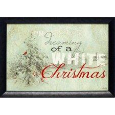 Christmas Dreams Framed Textual Art