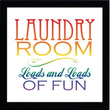 Laundry Room Textual Print Art