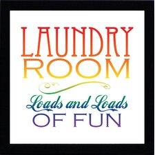 Laundry Room Textual Print Art