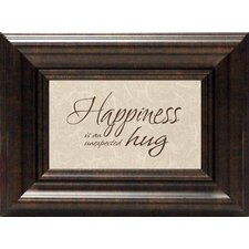 Happiness Is An Unexpected Hug Print Art