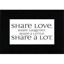 Share Love Print Art