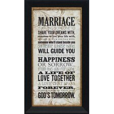 <strong>Artistic Reflections</strong> Marriage Wall Art