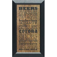 Beers Wall Art