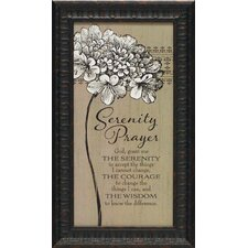 Serenity Prayer Framed Textual Art
