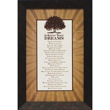 Achieve Your Dreams Framed Textual Art