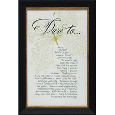 Dare to Framed Textual Art