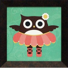 <strong>Artistic Reflections</strong> Ballerina Owl Framed Art