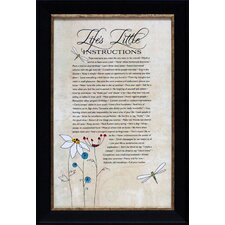 Life's Little Instructions Framed Textual Art
