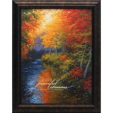 He Leads Me Besides Peaceful Streams Framed Painting Print
