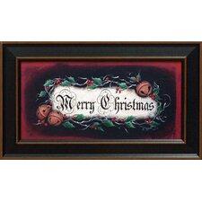Merry Christmas Framed Graphic Art