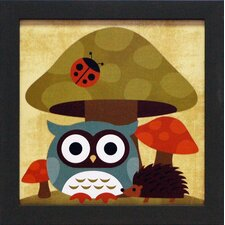 Owl and Hedgehog Framed Graphic Art