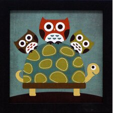 <strong>Artistic Reflections</strong> Three Owls on Turtle Framed Art