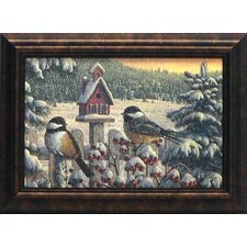 <strong>Artistic Reflections</strong> Winter Chickadees Framed Art