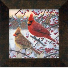 <strong>Artistic Reflections</strong> Winter Cardinals Framed Art