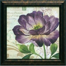 Study in Purple II Framed Graphic Art