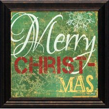 <strong>Artistic Reflections</strong> Merry Christmas I Framed Art