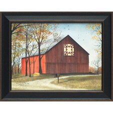 <strong>Artistic Reflections</strong> Amish Star Quilt Block Barn Framed Art