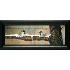 <strong>Artistic Reflections</strong> Sweet Chickadees Framed Art