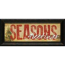 Season's Greetings Framed Textual Art