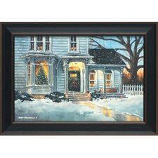Christmas House Framed Art