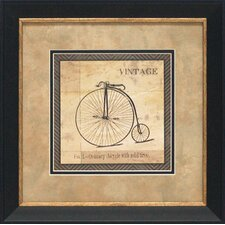 Vintage Bicycle Framed Art
