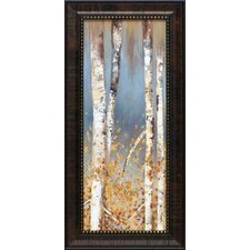 Butterscotch Birch Trees I Framed Painting Print