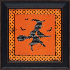 <strong>Artistic Reflections</strong> Halloween Witch Framed Art