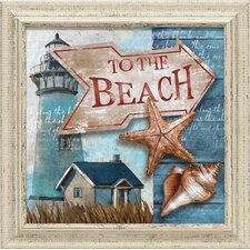 To the Beach Framed Graphic Art