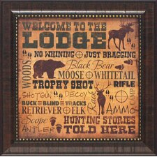 Welcome to the Lodge Framed Art