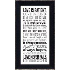 I Corinthians 13 Framed Textual Art