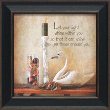 Let Your Light Shine Framed Graphic Art
