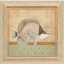 Vintage Fish IV Framed Art