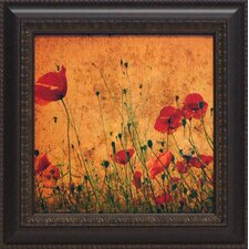 <strong>Artistic Reflections</strong> Field of Poppies Framed Art