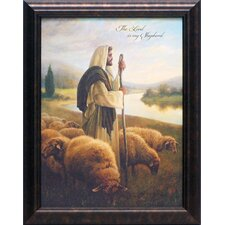 The Lord is My Shepherd Framed Graphic Art