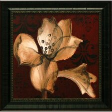Amaryllis on Red I Framed Graphic Art