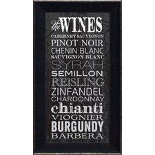 The Wines Framed Textual Art