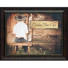 Cowboy Time Out Framed Art