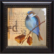 Blue Love Birds I Framed Graphic Art