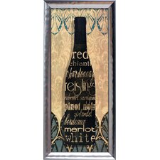 Wine Collection II Framed Textual Art