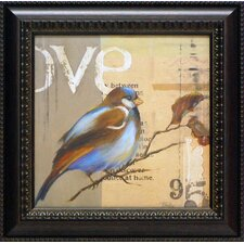 Blue Love Birds II Framed Art