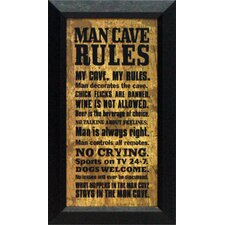 <strong>Artistic Reflections</strong> Man Cave Rules Wall Art