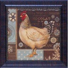 <strong>Artistic Reflections</strong> Aqua Rooster II Framed Art