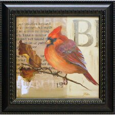<strong>Artistic Reflections</strong> Red Love Birds I Framed Art