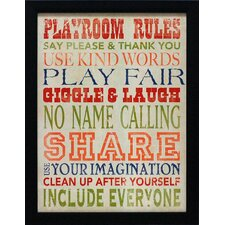 Playroom Rules Framed Art